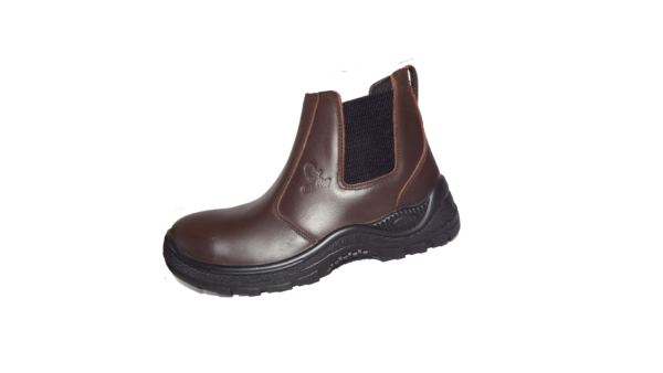 Brown Chelsea Leather Boot Steel Toecap