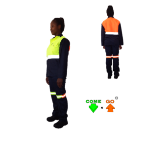 Cotton rich conti suit Navy reflective tape Hi-viz lime green orange