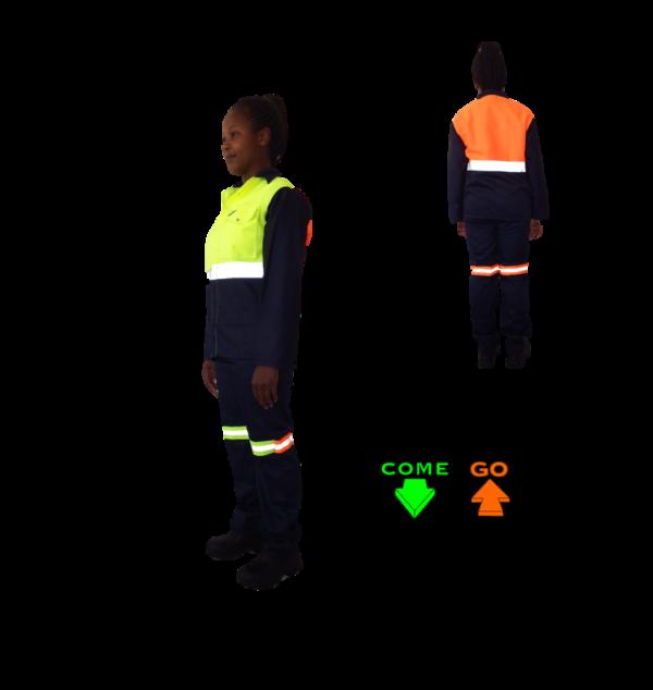 Cotton rich conti suit Navy reflective tape Hi-viz lime green orange