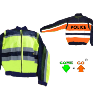Reflective jacket with zip off sleeves and inside pocket reflective tape Hi-viz lime green orange Mesh Material