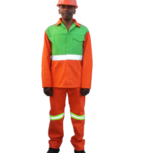 Cotton rich conti suit Orange reflective tape Hi-viz lime green red