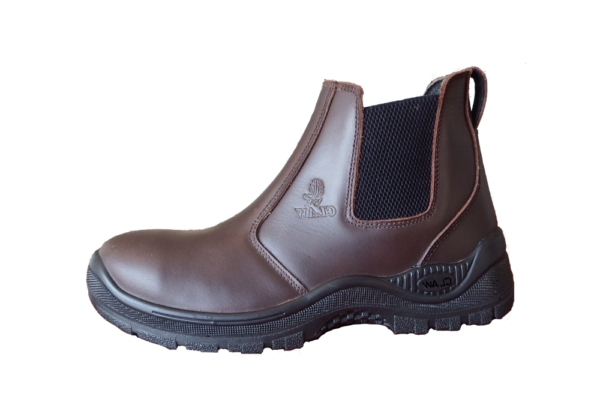 Brown Chelsea Leather Boot Steel Toecap