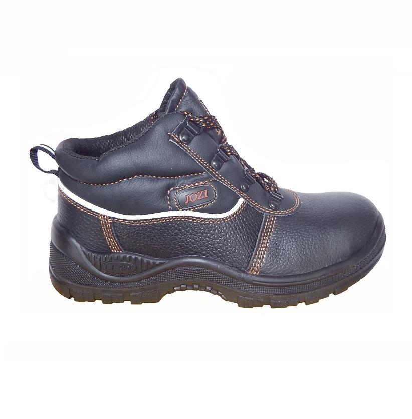Leather steel toe cap boot, unisex